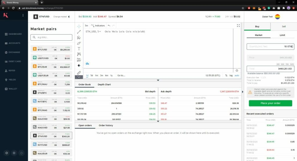 Kinesis trading cryptocurrency and precious metals