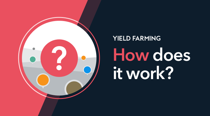yield farming how does  it work  - question mark on red background crypto defi decentralised finance
